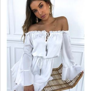 WHITE FOX BOUTIQUE NOTHING BUT YOU WHITE DRESS